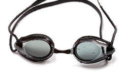 Wet goggles for swimming on white background Royalty Free Stock Photography