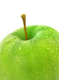 Wet green apple Royalty Free Stock Images