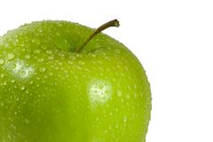Wet Green Apple Royalty Free Stock Photo