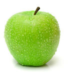 Wet green apple Stock Photography