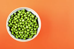 Wet Green Peas In The Bowl Stock Photo