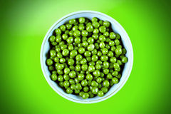 Wet Green Peas In The Bowl Stock Photos
