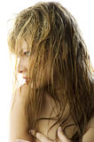 Wet hair Royalty Free Stock Photos