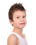 Wet hair boy with emotion Royalty Free Stock Images