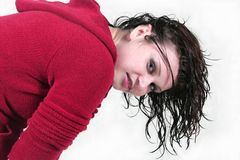 Wet hair look Royalty Free Stock Images