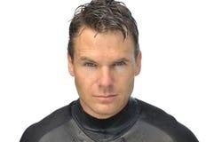 Wet handsome man Stock Image