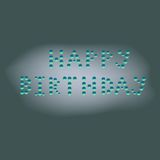 Wet happy birthday Royalty Free Stock Photos