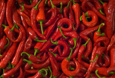 Wet hot pepper. Background. Royalty Free Stock Photography
