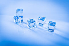 Wet ice cubes Royalty Free Stock Images
