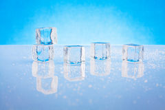Wet ice cubes Royalty Free Stock Photos