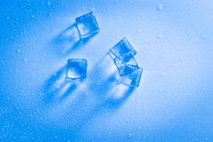 Wet ice cubes Royalty Free Stock Photography