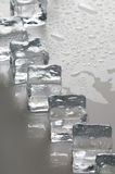 Wet ice cubes objects Stock Photo