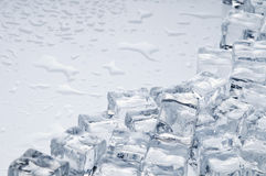 Wet ice cubes objects Stock Image