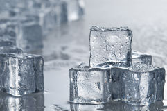 Wet ice cubes objects Stock Photos