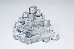 Wet ice cubes objects Royalty Free Stock Image