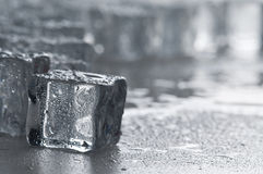 Wet ice cubes objects Stock Photography
