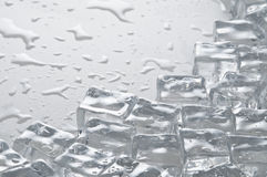 Wet ice cubes objects Royalty Free Stock Photo