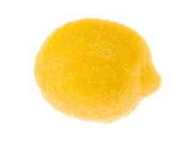 Wet juicy lemon. Royalty Free Stock Photos