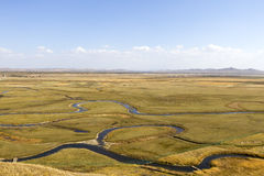 Wet land. It is a territory of china, hebei province, called luan river, the source of the river is a large prairie wetlands Stock Images