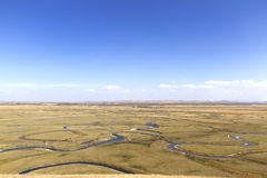 Wet land. It is a territory of china, hebei province, called luan river, the source of the river is a large prairie wetlands stock photography