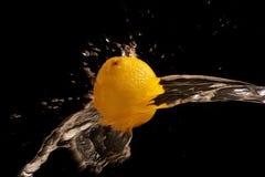 Wet Lemon Royalty Free Stock Images