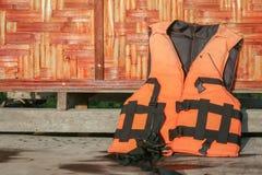 Wet life vest Stock Images