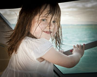 Wet little girl smiling Royalty Free Stock Photography
