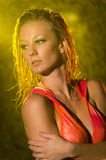Wet look woman Royalty Free Stock Photography