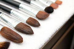 Wet make up brushes Royalty Free Stock Photography
