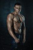Wet male torso. Royalty Free Stock Photos