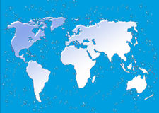 Wet map of world Royalty Free Stock Images