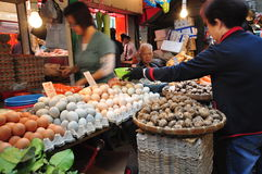 Wet Market in Hong Kong Stock Images