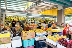 Wet Market in Singapore Royalty Free Stock Photography