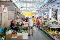 Wet Market in Singapore Royalty Free Stock Photo