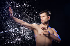 Wet men. Stock Image