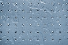 Wet metallic surface. Wet metallic plate for a background Royalty Free Stock Image