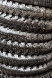 Wet Motorbike tyres Royalty Free Stock Photo