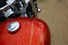 Wet Motorcycle Stock Photography