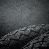 Wet motorcycle tire tread Royalty Free Stock Photo