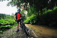 Wet mtb Royalty Free Stock Photos