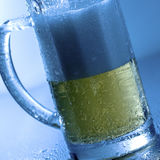 Wet mug of beer Royalty Free Stock Images