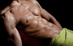 Wet muscle Royalty Free Stock Images