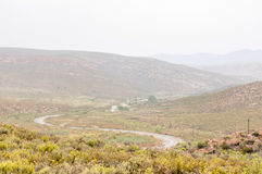 Wet Nuwekloofpas descending into the Baviaanskloof Royalty Free Stock Images
