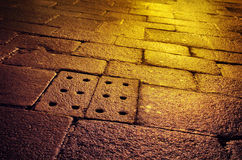 Wet Old Pavement Stock Images