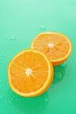 Wet orange Royalty Free Stock Images