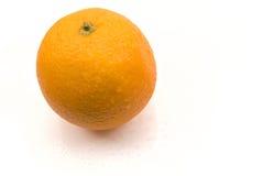 Wet orange. Isolated on the white background stock images