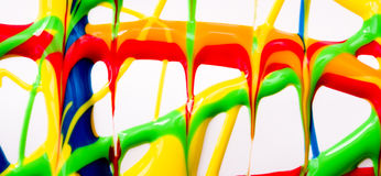 Wet paint banner Royalty Free Stock Photography