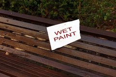 Wet paint sign Royalty Free Stock Photography