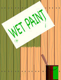 Wet Paint Royalty Free Stock Images
