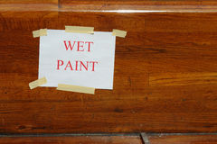 Wet Paint Stock Photos